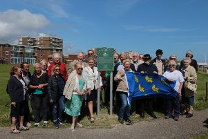 A plaque commemorating golfer Max Faulkner was unveiled in Bexhill on Sunday. Picture by David Pulley SUS-190617-121550001