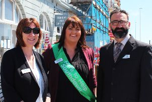 Employees of Southdown's mental health team ' (L-R) Lynne Thomas, Kirstie Addleton and Martin Dominy