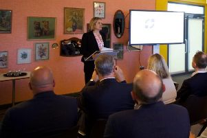 Amber Rudd, Secretary of State for Work and Pensions, delivered a speech at the launch event