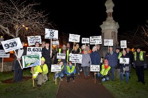 Supporters of the creation of a Bexhill town council before a crunch meeting in December 2017