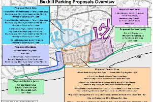 An overview of the Bexhill parking proposals. Photo courtesy of East Sussex County Council. SUS-191009-123202001