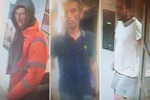 Police would like to speak to these men. Picture: Sussex Police