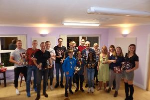 The presentation evening. Photo courtesy of Cooden Beach Sports and Social Club.
