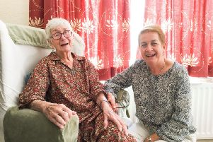 Margaret with her daughter Alice Denot