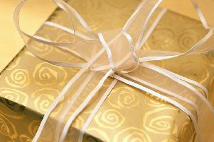 Christmas Present Wrapped in Gold and Silver 2000'gift 13028619