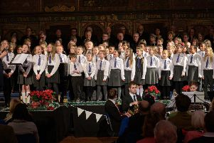 The guest children's choir from Christ Church Primary School. Photograph by Peter Mould