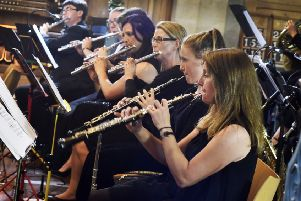 The flute section of Hastings Sinfonia
