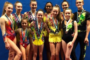 Hollington Gymnastics Club members at the Swifts Invitational event