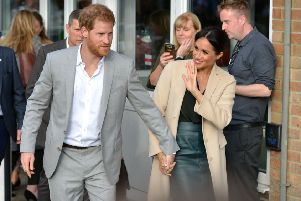 Prince Harry and Meghan visiting the Joff Youth Centre in Peacehaven last year. Picture: Peter Cripps