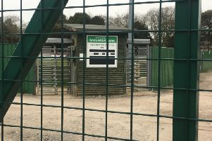 Oaklands Park, Chichester - no sign of football being played in the near future / Picture: Steve Bone