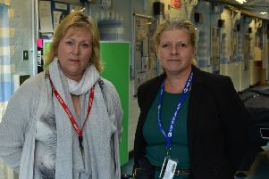 PCC Kathryn Holloway and new prison govenor Helen Clayton-Hoar