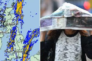 This is when Storm Adrian is set to bring heavy rain and strong winds to southern, central and eastern England