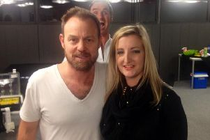 Caroline Owen with Jason Donovan