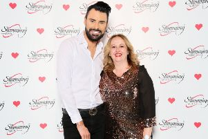 Adela Kerr with singer and presenter Rylan Clark-Neal