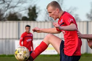 Joe Hankins in action for United. Picture: Guy Wills
