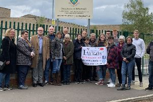 'Save Our School Farm' campaigners.