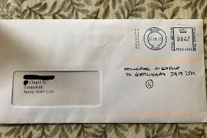 A letter not meant for the Gamlingay address.