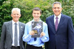 William with Hft chief executive, Robert Longley-Cook (left), and managing director of Tunstall, Gavin Bashar.