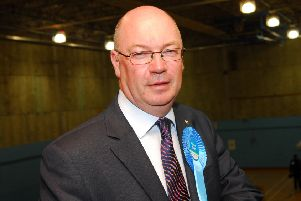 b10-647 Election count North east Bedfordshire''Alistair Burt elected Conservative MP