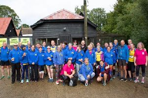 Biggleswade AC runners at the Standalone 10k.