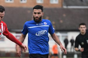 Mahmut Caglar was on the scoresheet for Biggleswade in their 6-0 win