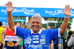 Tony Male will take on his 25th successive Great South Run in October. Picture: Allan Hutchings (143044-379)