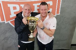 Neil Sillett, left, and Adrian Whitbread are enjoying success with Puerto Rico FC