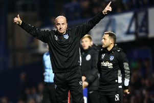 Pompey boss Paul Cook believes the Blues are now in a mini league of League Two teams fighting for promotion   Picture: Joe Pepler
