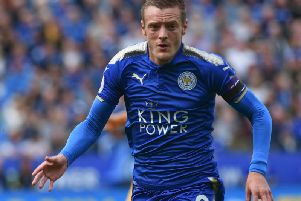 Leicester striker Jamie Vardy. Picture by Phil Westlake (PW Sporting Photography)