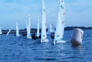 Action on the waterin the International 420 open at Itchenor