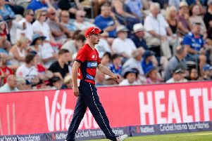 Mason Crane made his England debut in the fifth and final Ashes Test. Picture by Dave Vokes