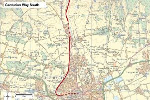 John Grimshaw's proposal to extend the southern part of Centurion Way to Chichester centre