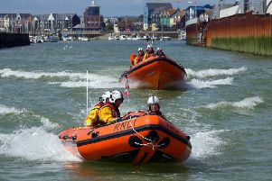Littlehampton's RNLI lifeboat crews had a busy weekend. File picture courtesy of Littlehampton RNLI