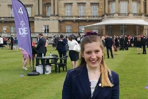 Jodi Adams, 18, from Yapton, received her Duke of Edinburgh's Gold Award at Buckingham Palace