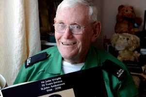 John Wright, who has been part of Bognor's division since moving here in 1987,  joined St John's Ambulance in 1948