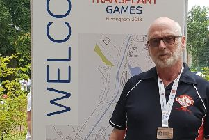 Jim Cullen at the British Transplant Games