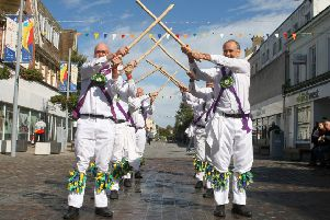 East Surrey Morris members perform at the Southdowns Folk Festival. Photograph Derek Martin/ dm1893891a