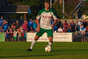 Bognor Regis Town midfielder Tommy Block has been inivited back by Scottish Premiership side Hibernian for a second trial in December. Picture by Tommy McMillan.