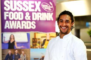Matt Gillan from Pike and Pine, lead judge for Sussex Young Chef of the Year 2019