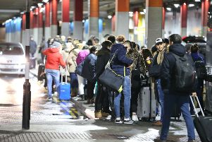 GATWICK DRONE INCIDENT  - TWO DRONES SPOTTED IN GATWOCKS AIRSPACE, AIRPORT STILL CLOSED 00.46 HRS - 02.23 PASSENGERS GETTING SHIPPED OUT TO HOTELS NOW