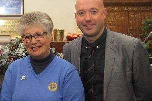 New Selsey ladies' captain Carol Wheeler and club captain Steve Grounds