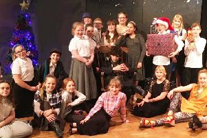 Students take part in the pantomime