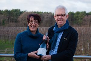 Bolney Wine Estate is to double in size following an announcement that it has merged with neighbouring vineyard Pookchurch.  Sam Linter and David Wood are pictured