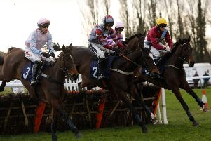 the Chancellor Of The Formchecker National Hunt Novices' Hurdle, won by Greaneteen / Picture by Clive Bennett