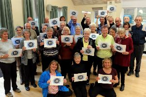 Members of the Parkinson's UK Worthing and Washington support group, celebrating the charity's 50th anniversary.' Picture: Kate Shemilt ks190055-1