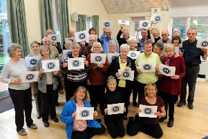 Members of the Worthing and Washington support group celebrating the 50th anniversary of Parkinson's UK. Picture: Kate Shemilt ks190055-3