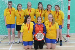 The University of Chichester women's handball team are national champions after taking home the University Plate. Picture by Evan Griffiths.