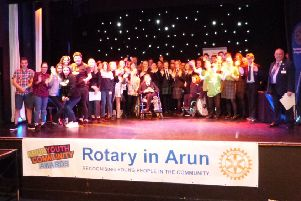 All the prize winners at the 2019 Rotary Arun Youth Community Awards