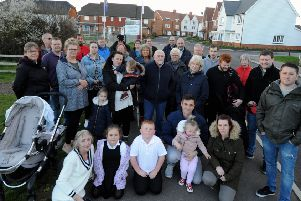 ks190189-2 Bersted Parking Petition  phot  kate  Residents angry about the new parking restrictions.ks190189-2 SUS-190204-222232008