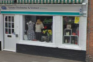 The RSPCA's charity shop in Chichester